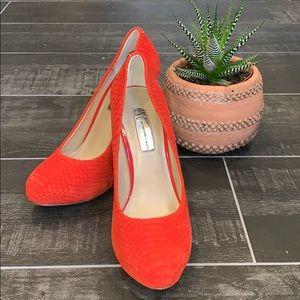 INC Tangerine Heels